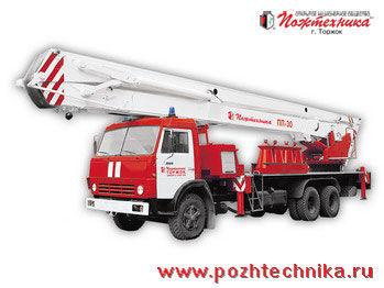 пожарна автостълба КАМАЗ ППП-30 Пеноподъемник пожарный