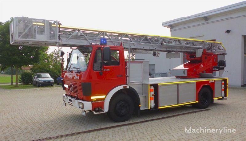 пожарна автостълба MERCEDES-BENZ F20126-Metz DLK 23-12 - Fire truck - Turntable ladder