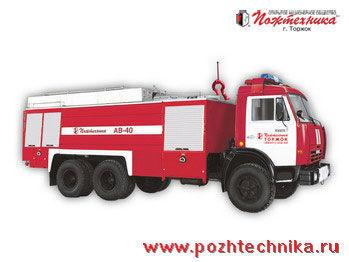 пожарна кола КАМАЗ АВ-40 Автомобиль воздушно-пенного тушения