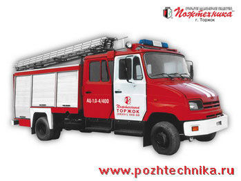 пожарна кола ЗИЛ АЦ-1,0-4/400