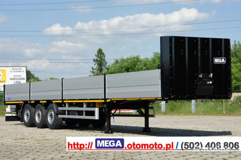 нов бордово полуремарке MEGA MNS 22,5 - PLATFORM & ALUSIDES 800 MM /  STRONG  FRAME DOMEX650