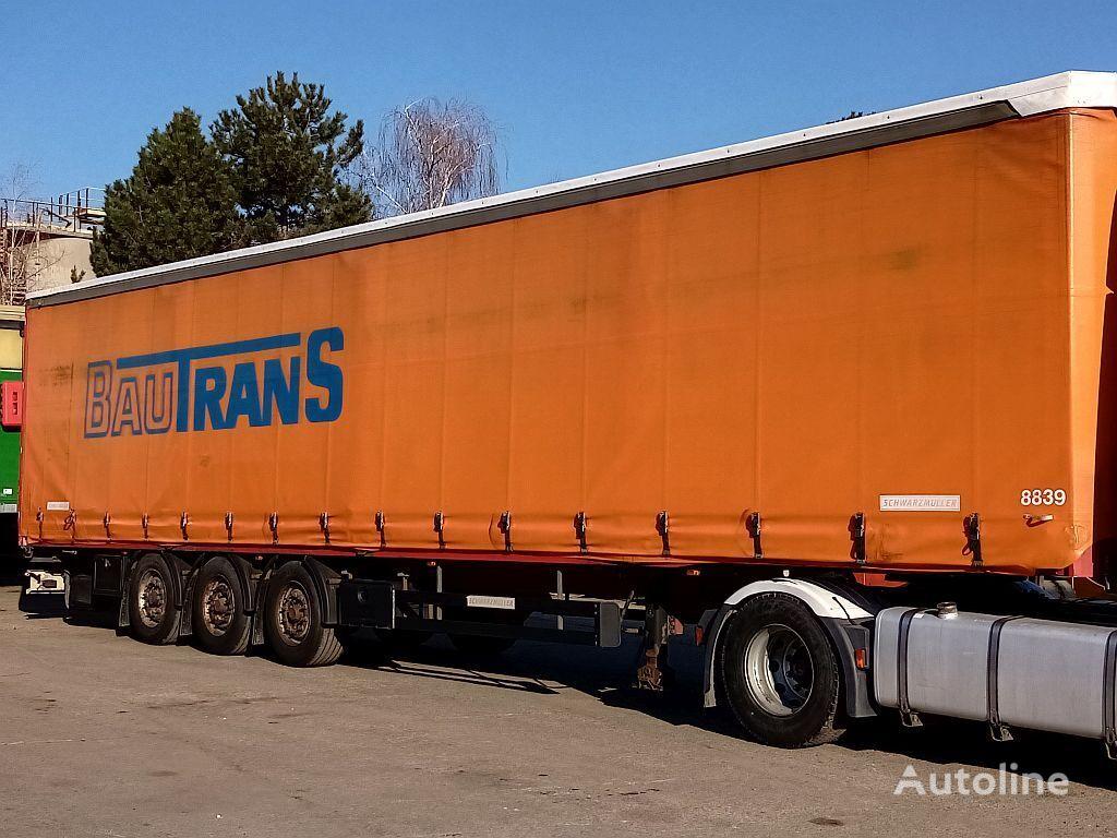 полуремарке контейнеровоз SCHWARZMÜLLER Container-20,40 FT , Hubdach,Verbreiterbarer, Tautliner