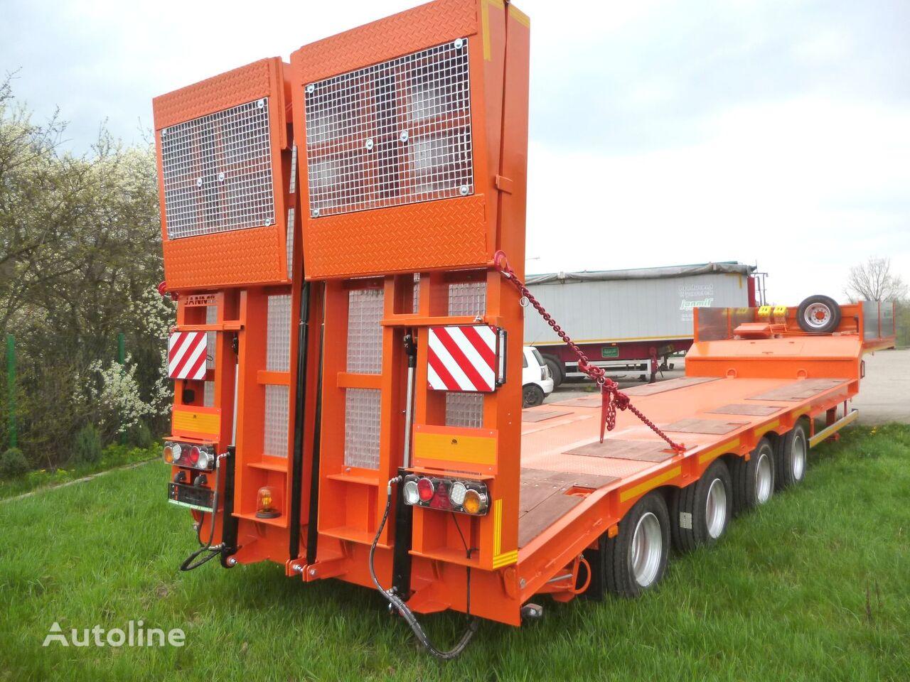 нов полуремарке ниска товарна площадка JANMIL 4 x SAF with hydraulic ramps