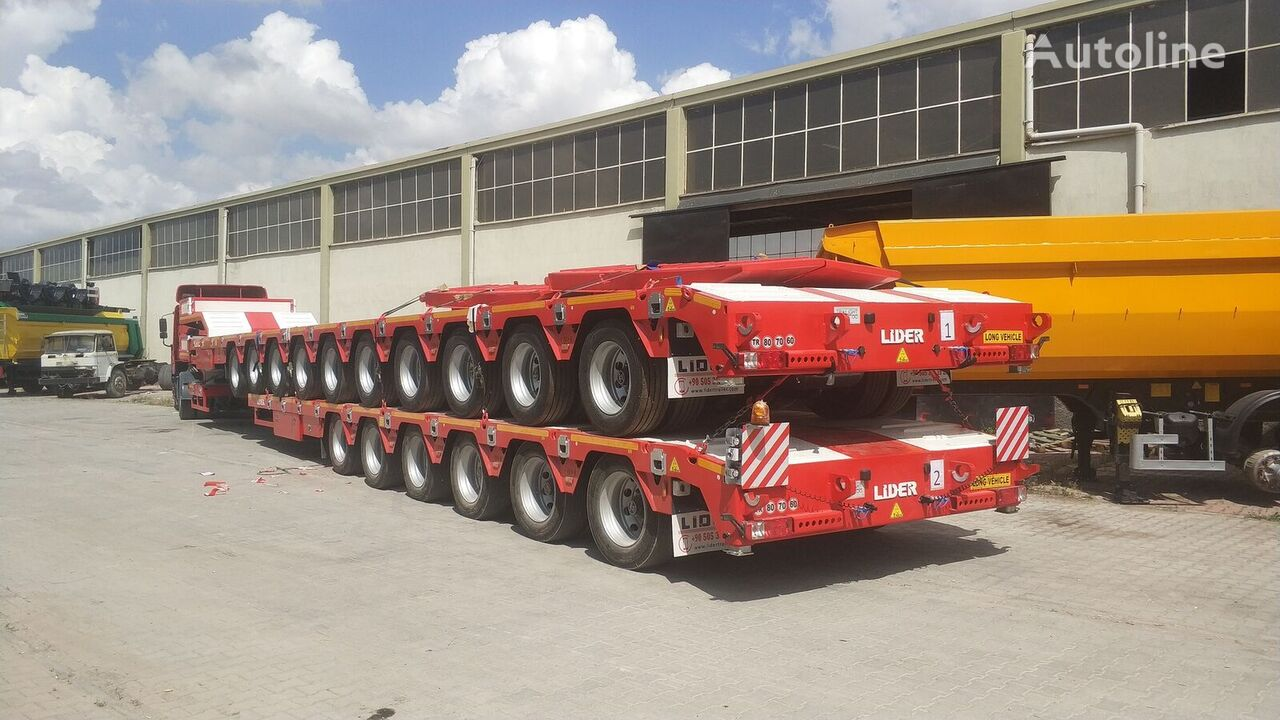 нов полуремарке ниска товарна площадка LIDER 2021 model 150 Tons caapcity Lowbed semi trailer
