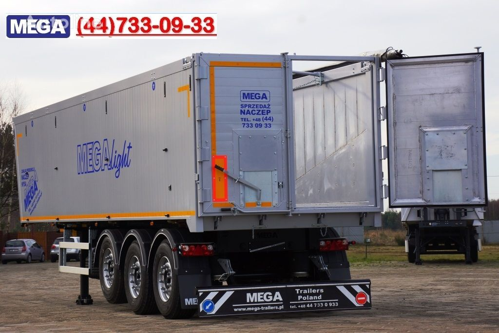 нов полуремарке самосвал MEGA 45 m³ - alum. tipper SUPER-LIGHT - 5,300 KG & hatch door - READY