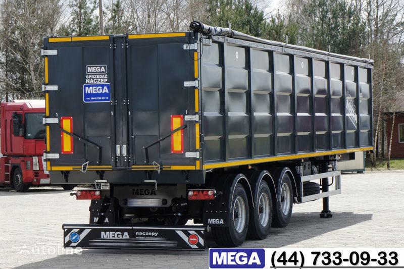 нов полуремарке самосвал MEGA 55 M³ DOMEX/OPTIM 650 STEEL TIPPER / HATCH-DOOR & GRAINHOLES !!