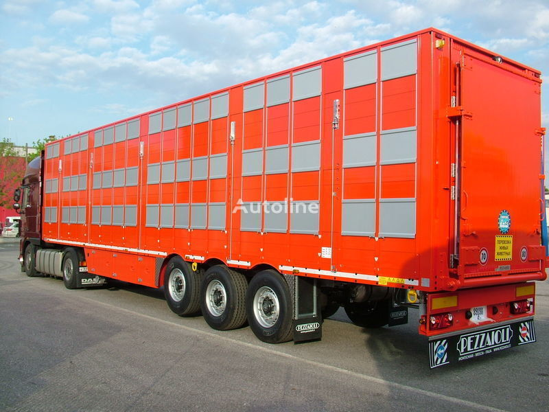 нов полуремарке за превоз на животни PEZZAIOLI SBA63 3 этажа загрузки