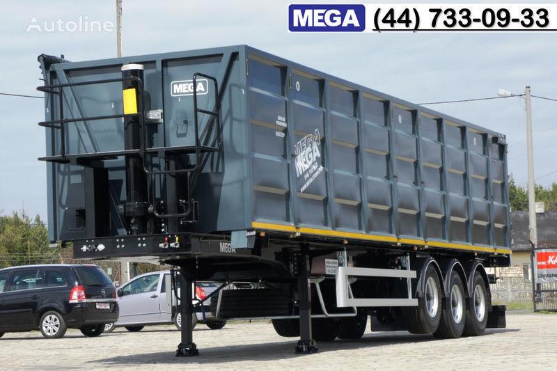нов полуремарке за превоз на зърно MEGA 11,4 m / V = 55 m³ ctalovyy kuzov klapan-dverey / Luk dla zerna!