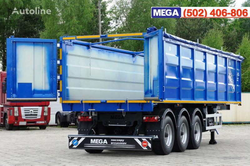 нов полуремарке за превоз на зърно MEGA 38/10200 КД paмa к тягачу 6x4