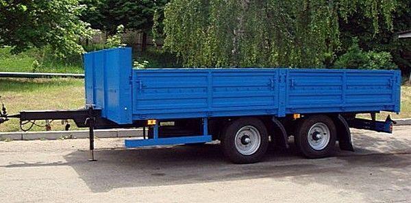 нов бордово ремарке КАМАЗ СЗАП-830622