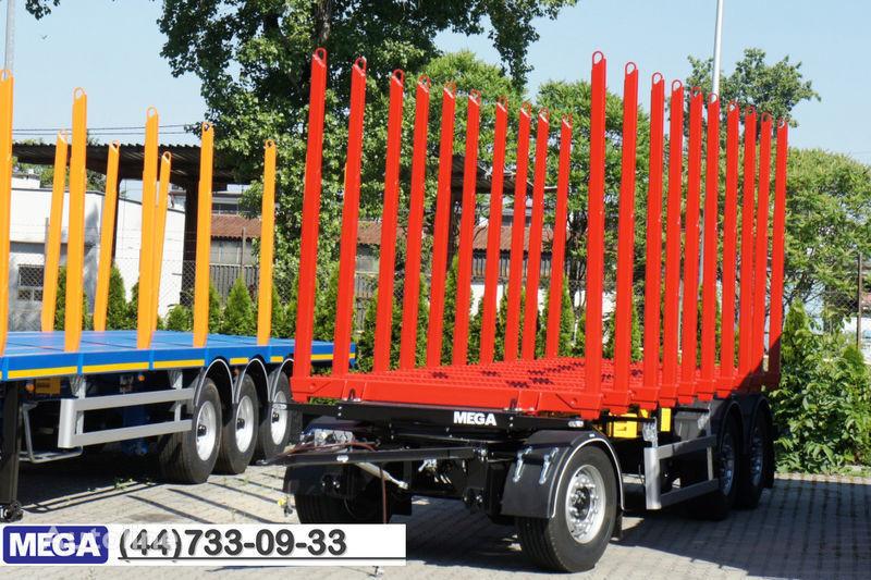 нов ремарке транспорт на дървесина MEGA 10 stanchions