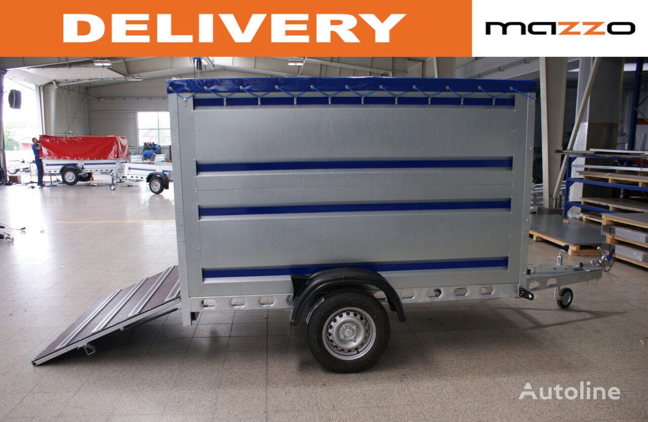нов ремарке за превоз на животни GVW 750kg 242x142x140cm spring-loaded ramp
