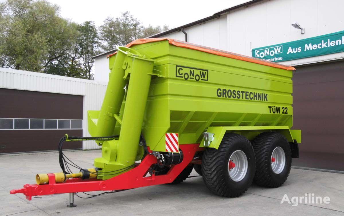 нов ремарке за превоз на зърно CONOW TÜW 22