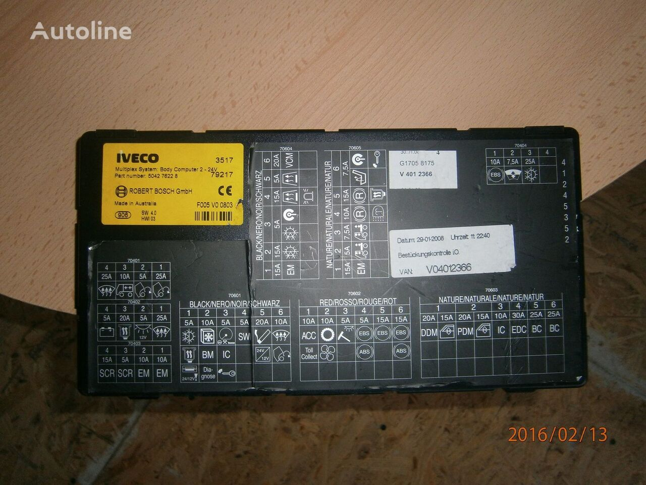блок за управление  Iveco Stralis EURO5 Multiplex system body computer 504276228 за влекач IVECO Stralis
