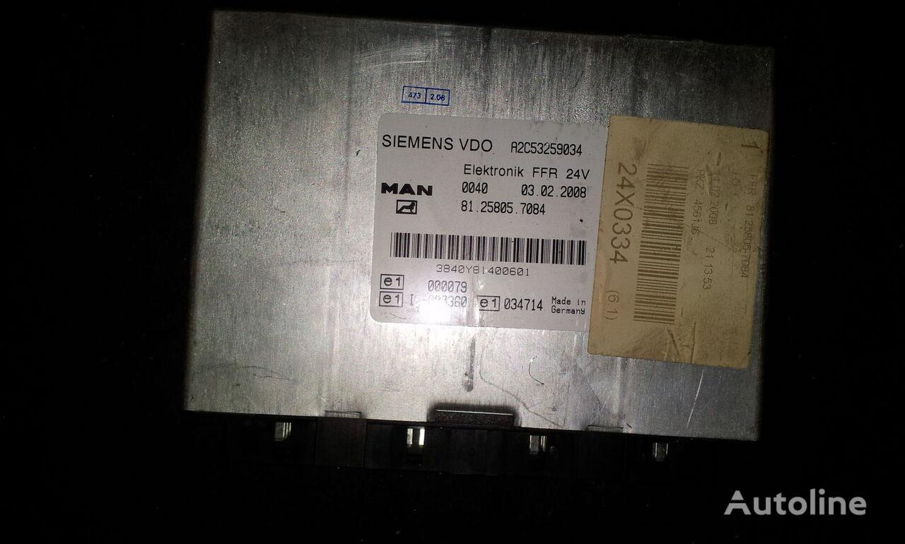 блок за управление  MAN FFR control unit, ECU, 81258057084, Siemens VDO, 81258057084, 81258057088, 81258057081, 81258057082, 81258057083, 81258057084, 81258057087, 81258057089, 81258057088 за влекач MAN TGX