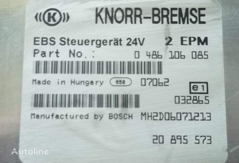 блок за управление  RENAULT central brake control unit EBS 20895573 за влекач RENAULT Premium DXI