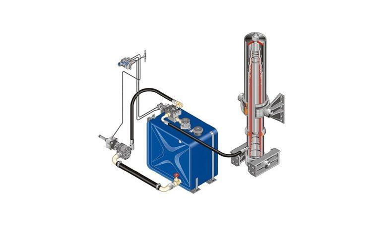 нов хидравличен резервоар MAN Комплект гидравлики за влекач MAN DAF/IVECO/RENAULT