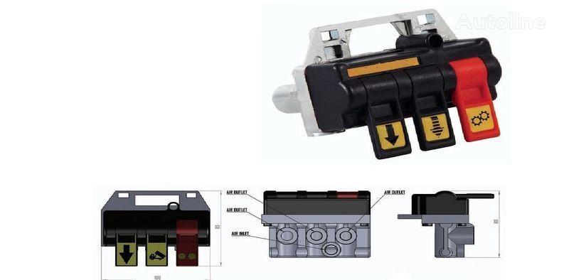 нов кран Переключатель пневматический для управления гидравликой ABER (По за камион DAF, Iveco, MAN, Mercedes-Benz, Volvo, Renault, Scania, Камаз, М