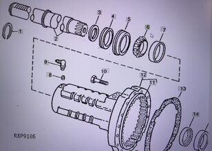 ремонтен комплект JOHN DEERE JD9092/pierścień wewnętrzny за трактор JOHN DEERE 4554/4755/4955