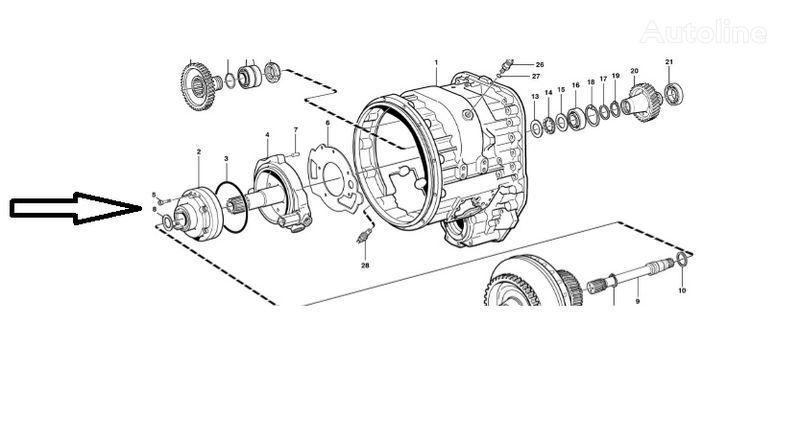 нова скоростна кутия  Помпа VOE11145264 за челен товарач VOLVO  L180E