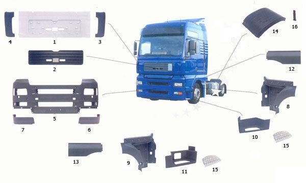 ново стъпало MAN 81615100399. 81615100401,81615100400 за камион MAN TGA