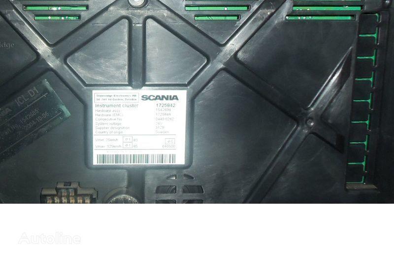 табло с уреди  Scania R series instrument panel, instrument cluster, dashboard, 1725842 instrument cluster, 1507322, 1545985, 1545989, 1545993, 1763551, 1765222, 1849503, 1852891 за влекач SCANIA R