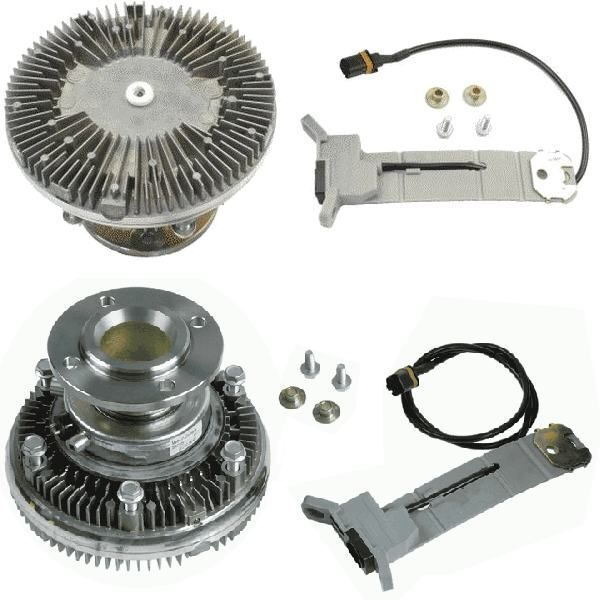 нов вентилатор за охлаждане MAN 51066300076.51066300108.51066300115.8MV 376 758-471.7063401. BEH за камион MAN TGA