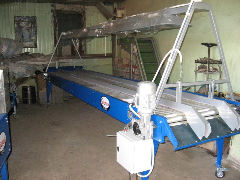 нов приемен бункер инспекционный роликовый стол - 5 м