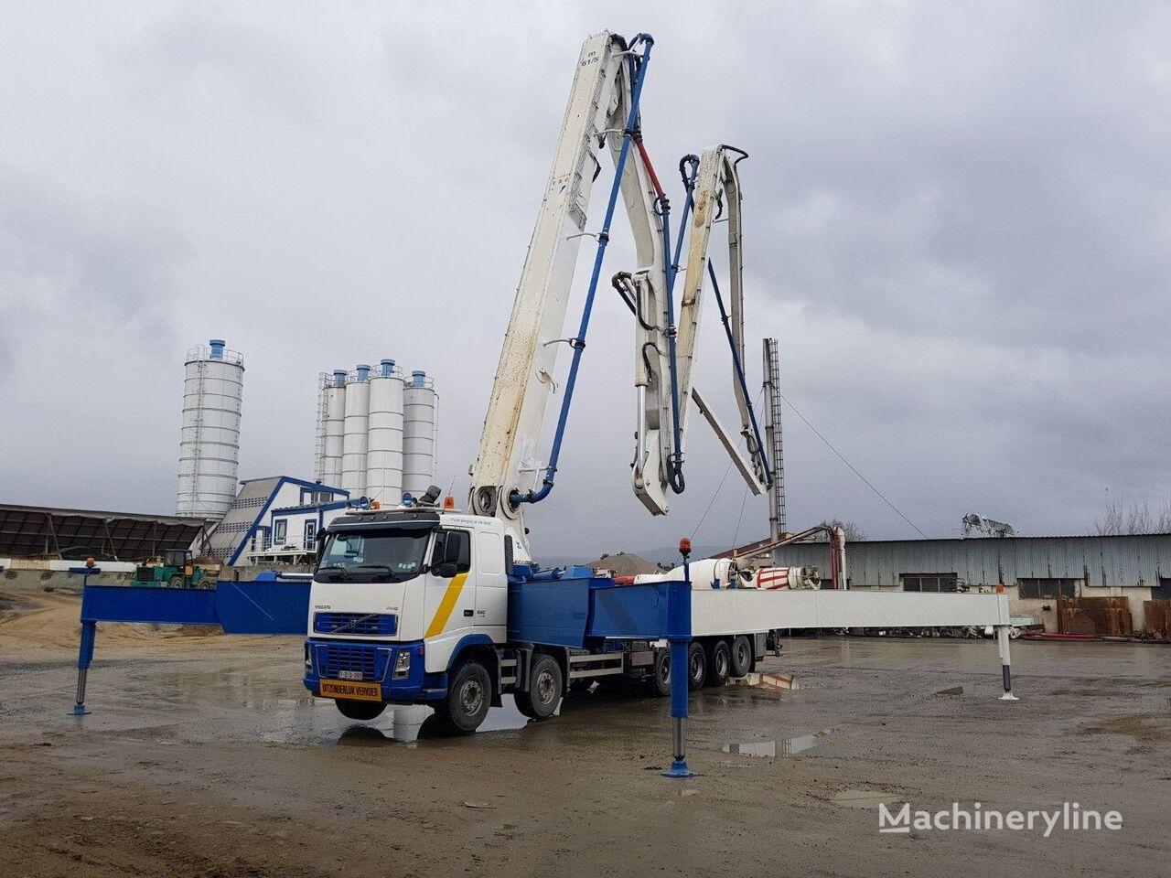 бетон-помпа VOLVO FH 16 580 12x4 Euro 5, 61m concrete pump 200m3/h