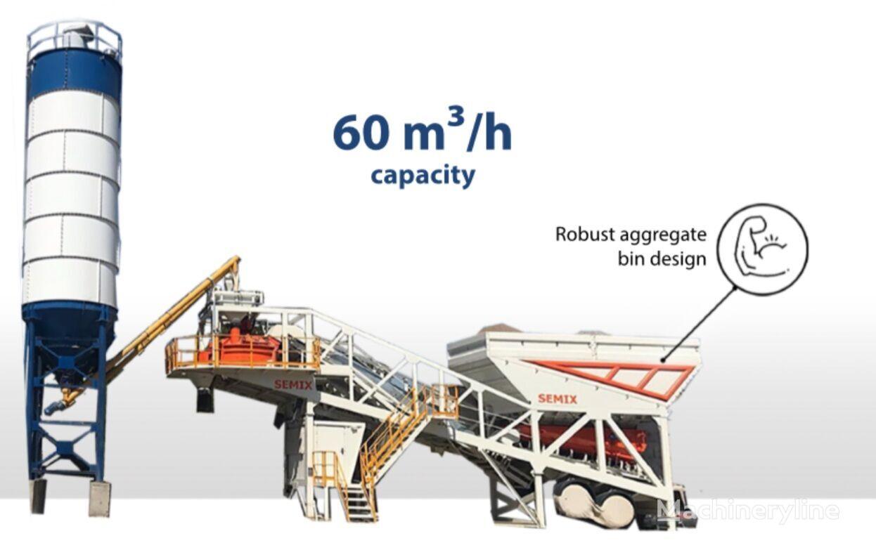 нов бетонов възел SEMIX Concrete Mixing Plant 60S