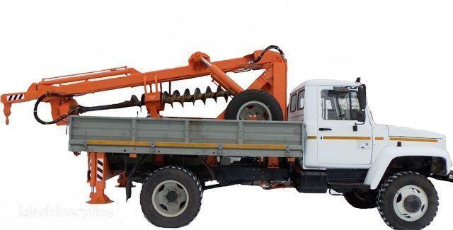 друга строителна техника БКМ ЗУ Бурильно-крановая машина БКМ-3У на автомобилях ГАЗ 33081 («Са