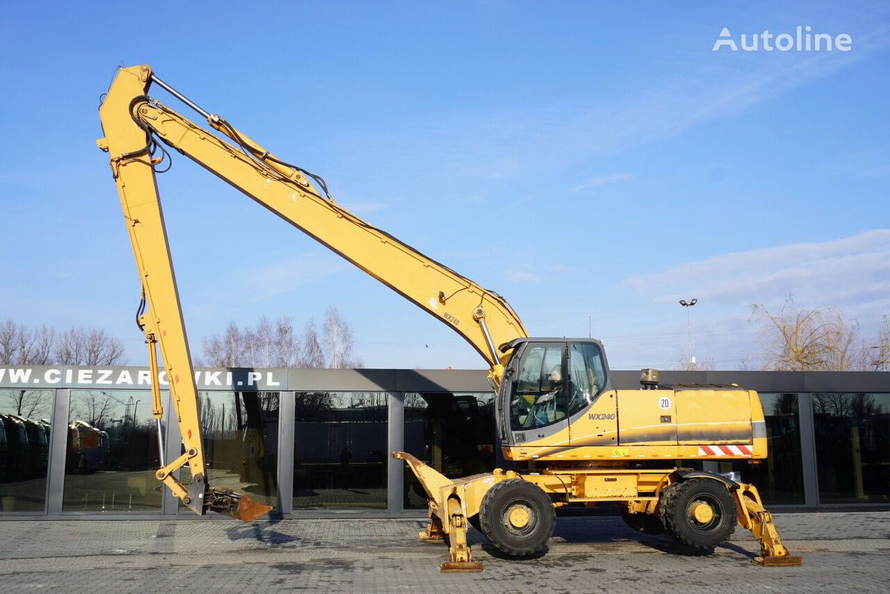 колесен багер CASE WX240 , 23t , LONG REACH 16m , 4k MTH , hydraulic bucket , joyst