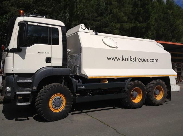 рециклираща машина MAN spreader for laim or cement TGS 33.440 - 6x6
