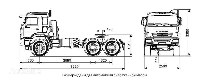 влекач КАМАЗ 44108 (6х6) Седельный тягач