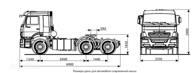 влекач КАМАЗ 6460 (6х4)
